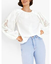 Hush Multicolor Brielle Embroidered Sleeve Top