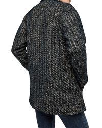 Gerard Darel Blue Gael Coat