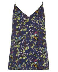 Oasis Blue Topaz Bird Print Cami