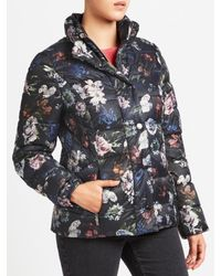 Gerry Weber Multicolor Quilted Flower Print Jacket