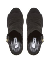 Dune Black Isabela Peep Toe Shoe Boots