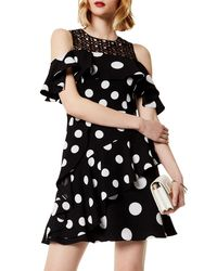Karen Millen Black Dot Crepe Dress