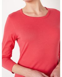 John Lewis Pink Three Quarter Sleeve Zip Back T-shirt