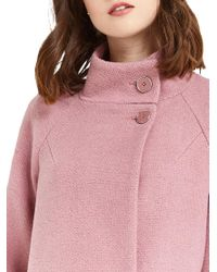 Oasis - Pink Florence Double Breasted Coat - Lyst
