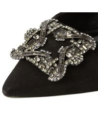 Dune - Black Betti Embellished Stiletto Heeled Court Shoes - Lyst