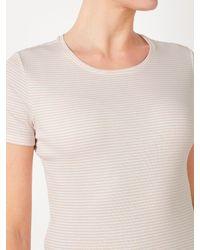 John Lewis White Crew Neck Stripe T-shirt