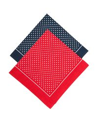 John Lewis Red Supersize Spot Handkerchiefs for men