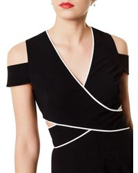 Karen Millen Black Piped Dress