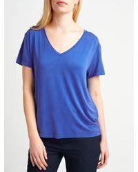 Samsøe & Samsøe Blue Siff V-neck T-shirt