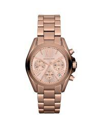 Michael Kors Metallic Mk5799 Women's Mini Bradshaw Stainless Steel Bracelet Strap Watch