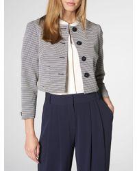 L.K.Bennett Multicolor Mableen Navy And Cream Stripe Jacket