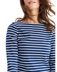 Joules Blue Harbour Stripe 3/4 Sleeve Jersey Top