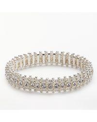 John Lewis - Metallic Sparkle Crystal Stretch Bracelet - Lyst