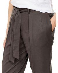John Lewis - Gray Mint Velvet Belted Paperbag Trousers - Lyst