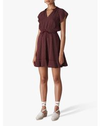 Whistles Purple Jazmin Spot Dress