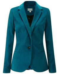 Pure Collection Blue Needlecord Jacket