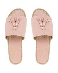 Bertie Pink Lainie Tassel Slider Sandals
