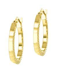 Ib&b - Metallic 9ct Gold Cobra Hoop Earrings - Lyst