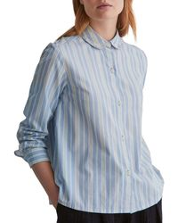 Toast - Blue Stripe Cotton Poplin Shirt - Lyst