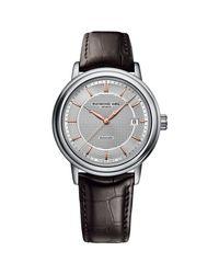 Raymond Weil Metallic 2837-sl565001 Men's Maestro Automatic Leather Strap Watch for men