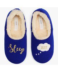 John Lewis - Blue Sleep Cosy Slippers - Lyst