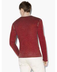 John Varvatos - Red Artisan V-neck Sweater for Men - Lyst