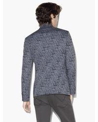 John Varvatos - Blue Abstract Print Jacket for Men - Lyst