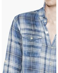 John Varvatos - Blue Roll-up Sleeve Sportshirt for Men - Lyst
