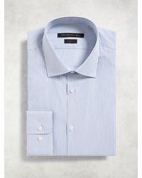 John Varvatos - Blue Slim Fit Dress Shirt for Men - Lyst
