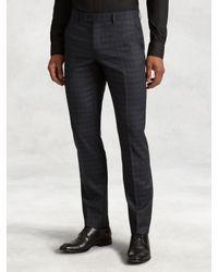 John Varvatos | Blue Austin Slim Fit Dress Pant for Men | Lyst