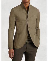 John Varvatos | Natural Lightweight Cotton Linen Jacket for Men | Lyst