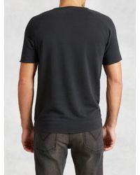John Varvatos - Black Pima Cotton Raglan Sweatshirt for Men - Lyst