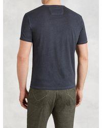 John Varvatos - Metallic Short Sleeve Pocket Tee for Men - Lyst