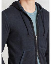 John Varvatos - Yellow Zip Hoodie With Herringbone Detail for Men - Lyst