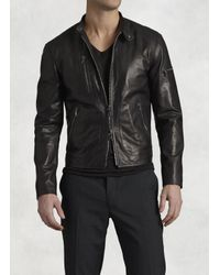 John Varvatos | Black Lambskin Leather Jacket for Men | Lyst