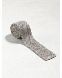 John Varvatos - Gray Classic Knit Tie for Men - Lyst