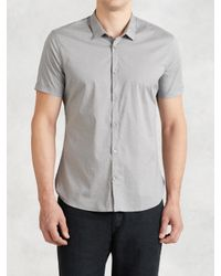 John Varvatos | Gray Pattern Dress Shirt for Men | Lyst