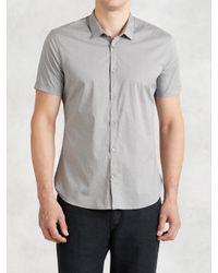 John Varvatos - Gray Pattern Dress Shirt for Men - Lyst