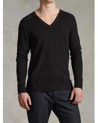 John Varvatos - Black V-neck Sweater for Men - Lyst