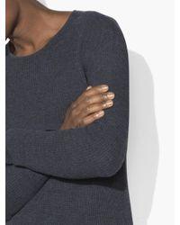 John Varvatos Blue Waffle Stitch Crewneck Sweater for men