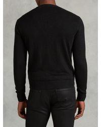 John Varvatos - Black Zip Front Linen Cardigan for Men - Lyst