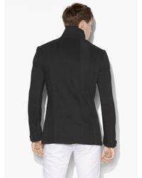 John Varvatos Black Slim Fit Notch Lapel One Button Jacket Witht Tape for men