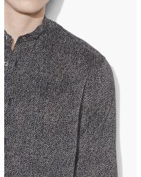 John Varvatos - Gray Abstract Printed Shirt for Men - Lyst