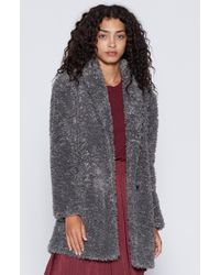 Joie | Gray Kavasia Faux Fur Jacket | Lyst