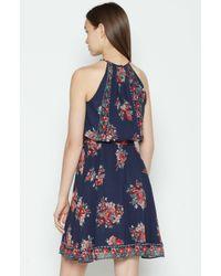 Joie | Blue Valetta Silk Floral-print Dress | Lyst