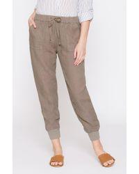 Joie Gray Stuva Linen Pants