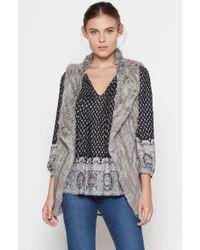 Joie Gray Andoni Fur Vest