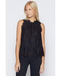 Joie Multicolor Marineth Lace Top