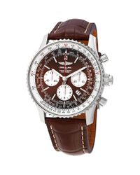 Breitling Metallic Navitimer Rattrapante Chronograph Automatic Panamerican Bronze Dial Mens Watch -756p for men