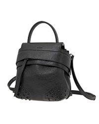 Tod's Womens Mini Wave Backpack- Black